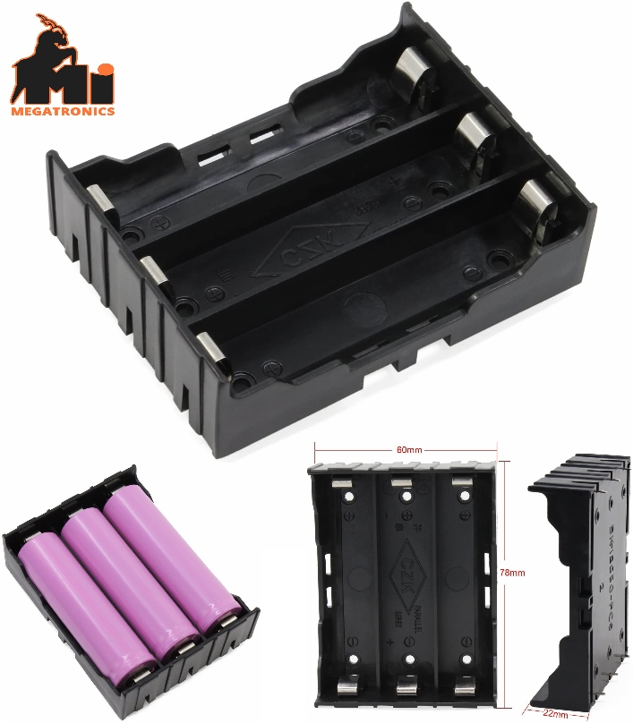 3S 18650 Battery Holder case with Pin 12V Storage