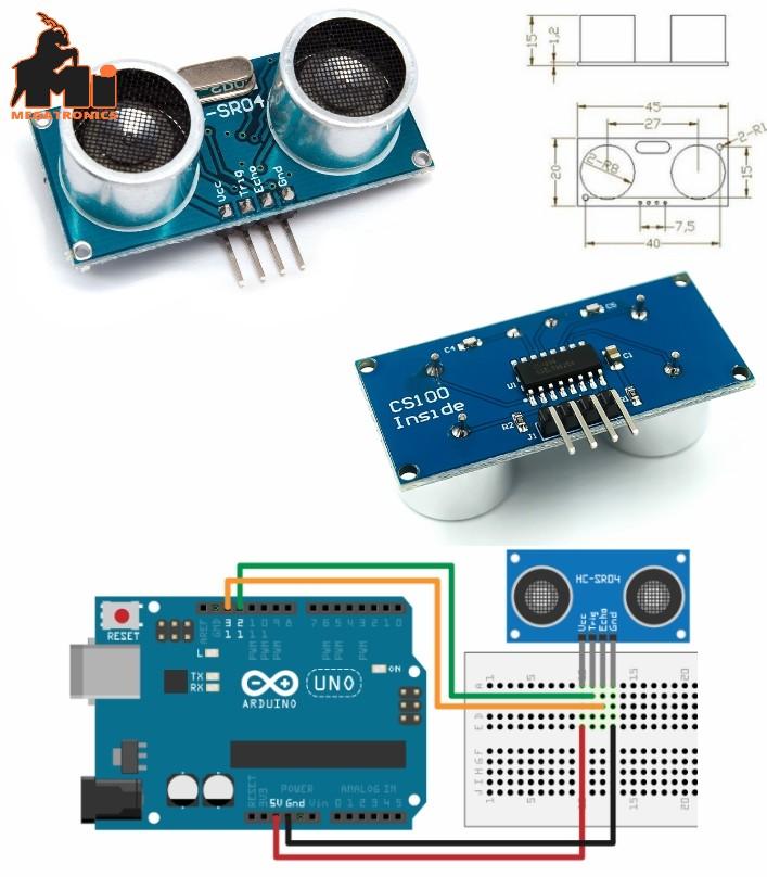 HC-SR04 CS100 Ultrasonic Distance Measuring ping S
