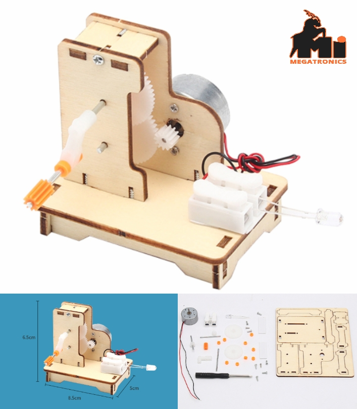 STEM Hand-crank electricity generator science kit experiment DIY invention mater