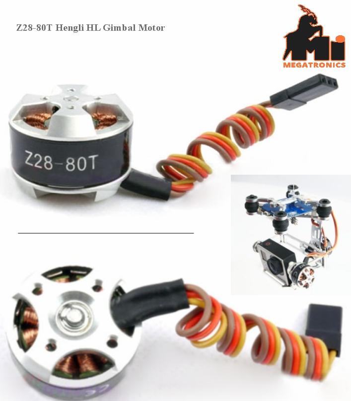 Z28-80T Hengli HL Gimbal Brushless Motor (GoPro)