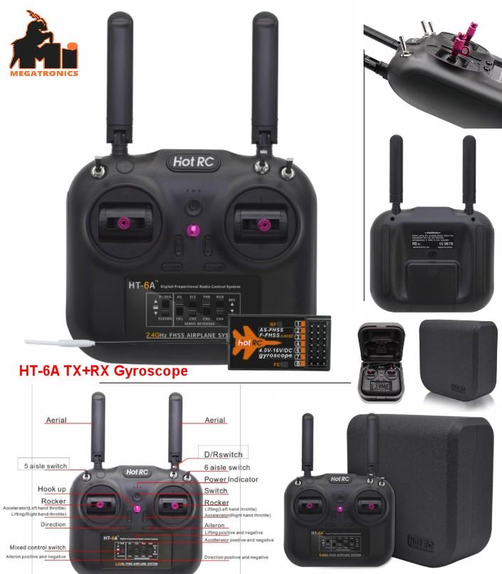 HOTRC HT-6A 2.4G 6CH RC FPV Transmitter gyroscope