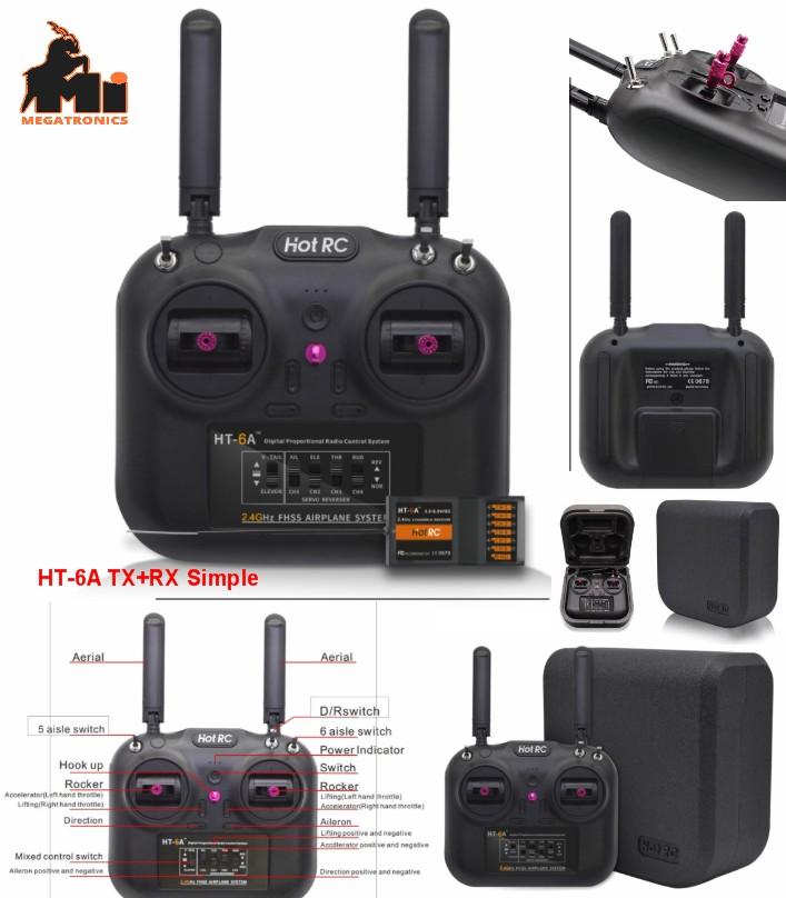 HOTRC HT-6A 2.4G 6CH RC FPV Transmitter FHSS & 6CH