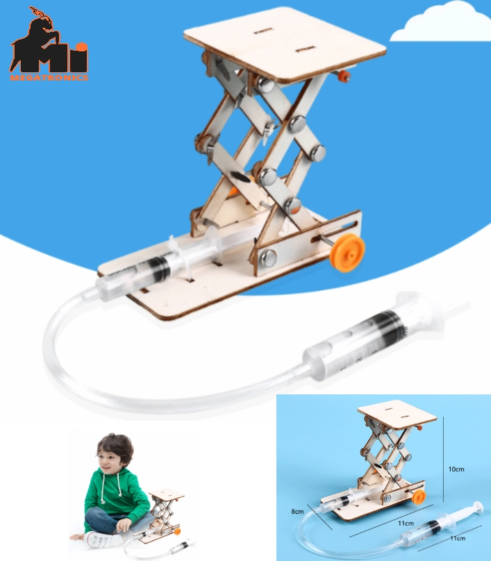 Creative hydraulic lift school science experiment STEM Toy