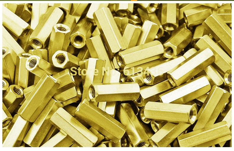 Hexagon rod nut spacer 25mm  coupling
