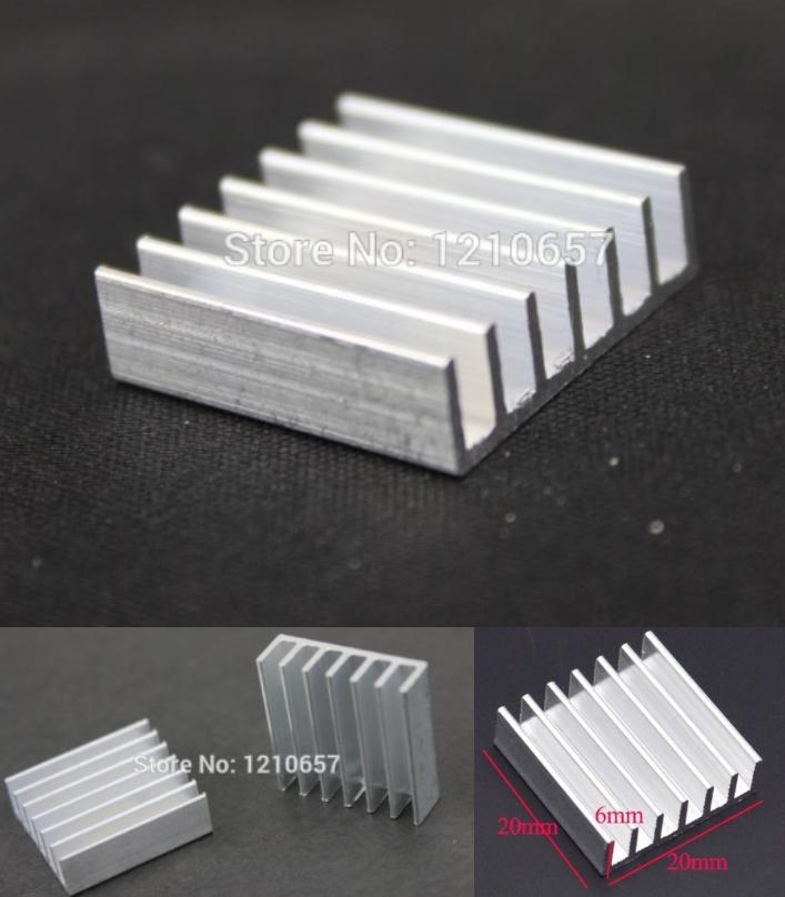 Aluminium Heat sink Cooling Raspberry VGA 20x20x6m