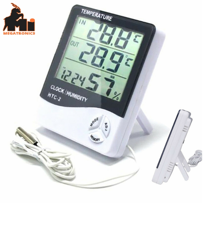 HTC-2 Thermo-hygrometer Alarm Clock Creative Home