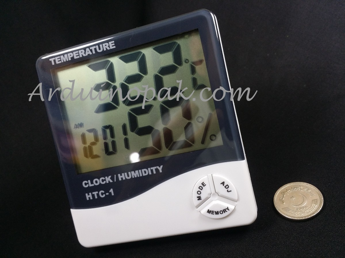 HTC-1 digital hygrometer temperature  humidity tim
