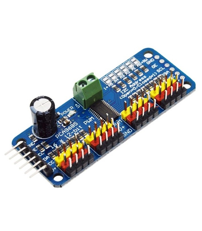 16-Channel 12-bit PWM Servo Driver - I2C interface