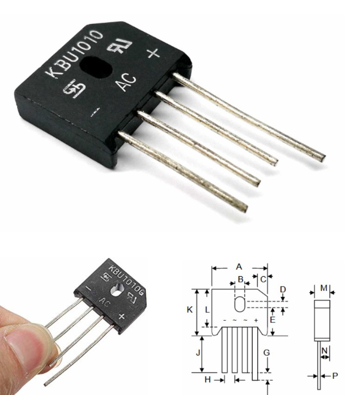 KBU1010 10A 1000V Diode bridge Rectifier IC