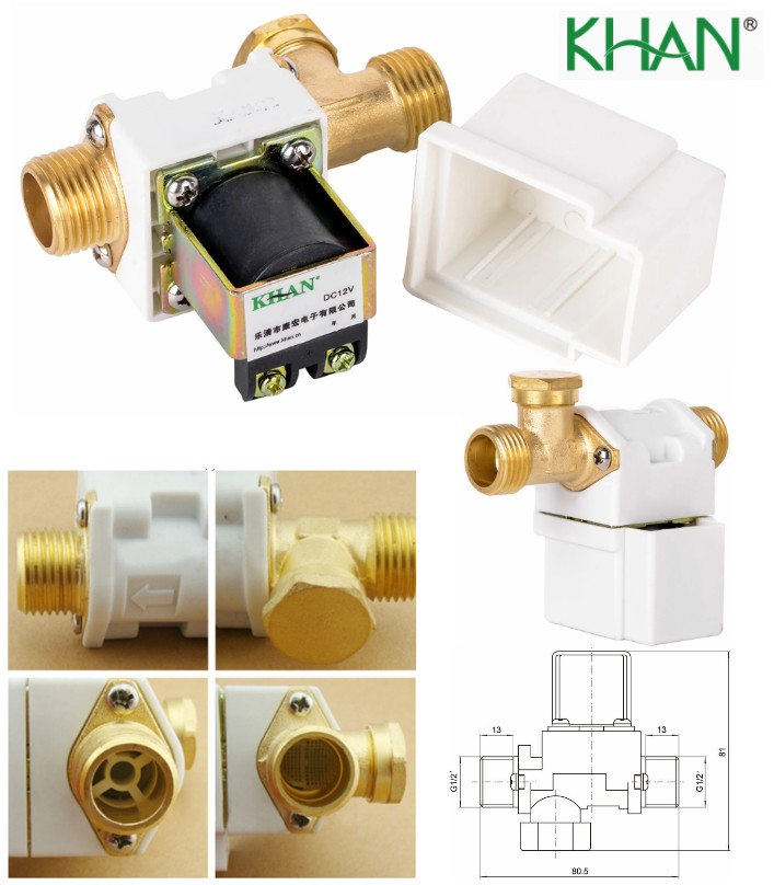 KHAN 12V DC HQ Water Solenoid Valve Fluid