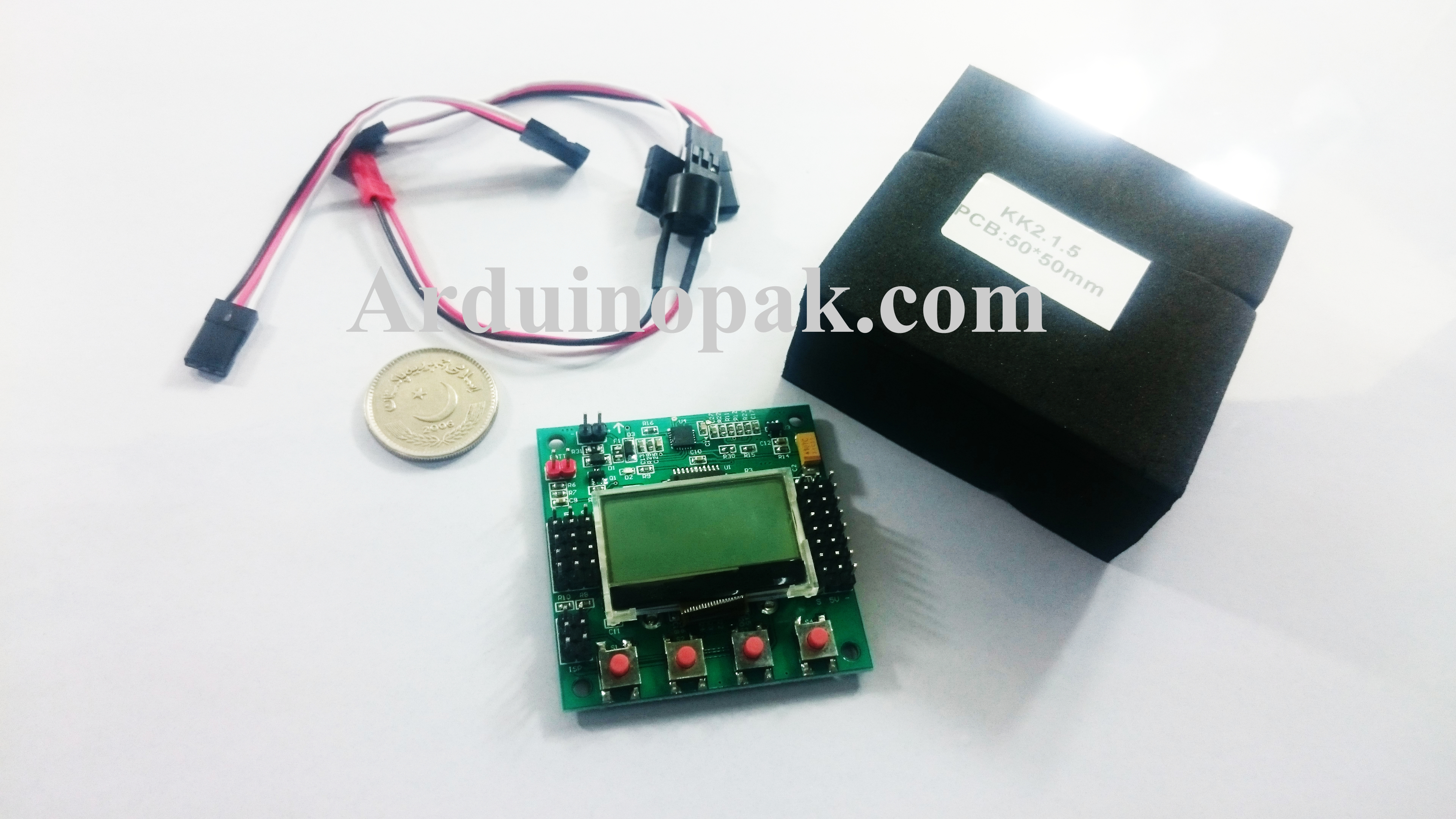 KK2.1.5 LCD Flight Control Board for quadcopter, H