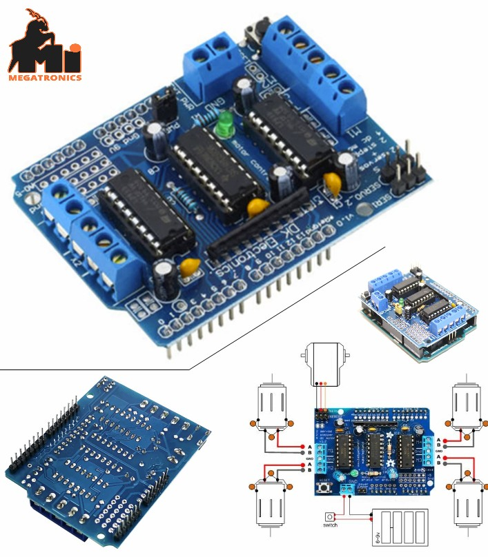 L293D Motor Driver Control Shield for Arduino H bridge dual