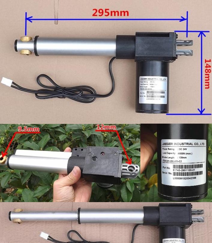 130mm 24V DC Linear Actuator Motor high torque
