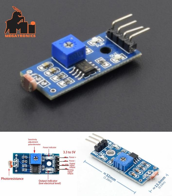 Opto LDR Light Sensor Module Arduino Raspberry
