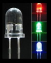 3mm  LED Blue High intensity crystal light