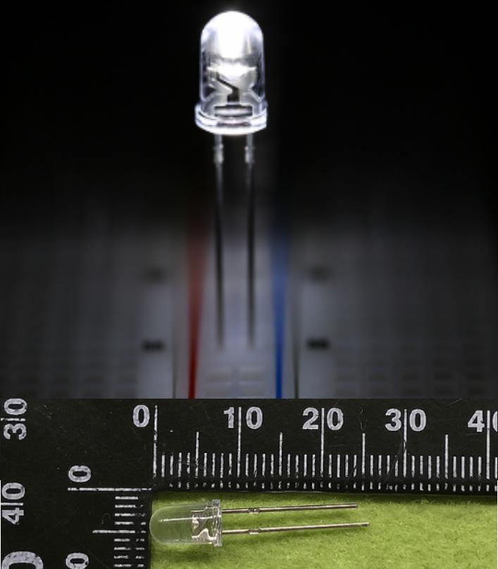 5mm LED White High intensity