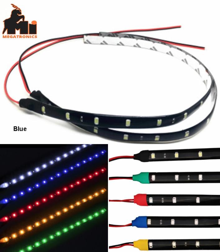 12V Blue LED flexible light bar 30CM car light str
