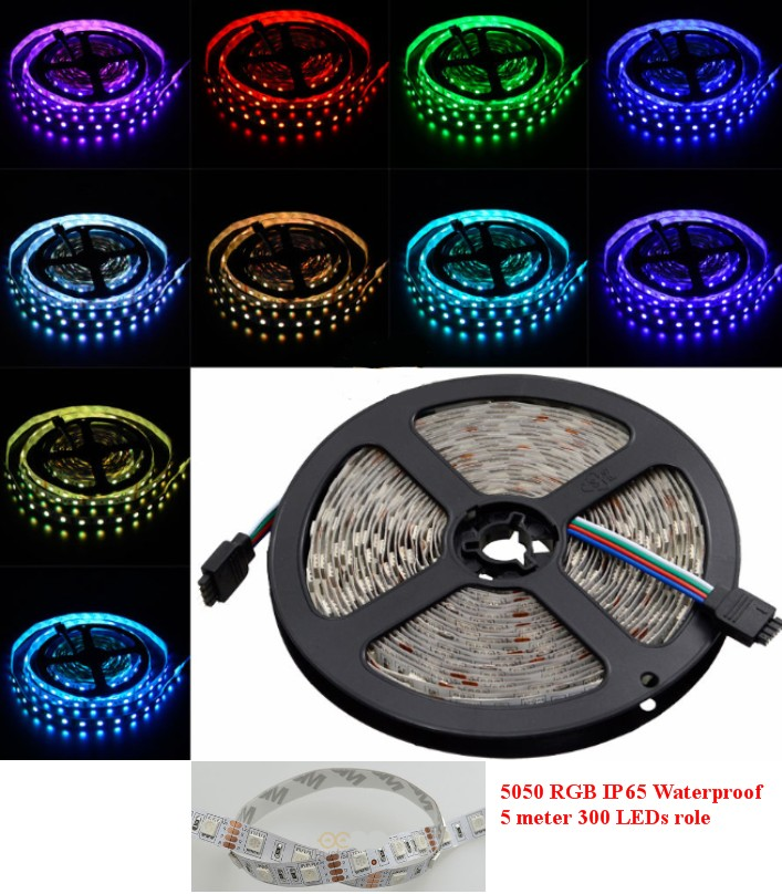 12V 5M SMD5050 RGB LED Strip waterproof Flexible
