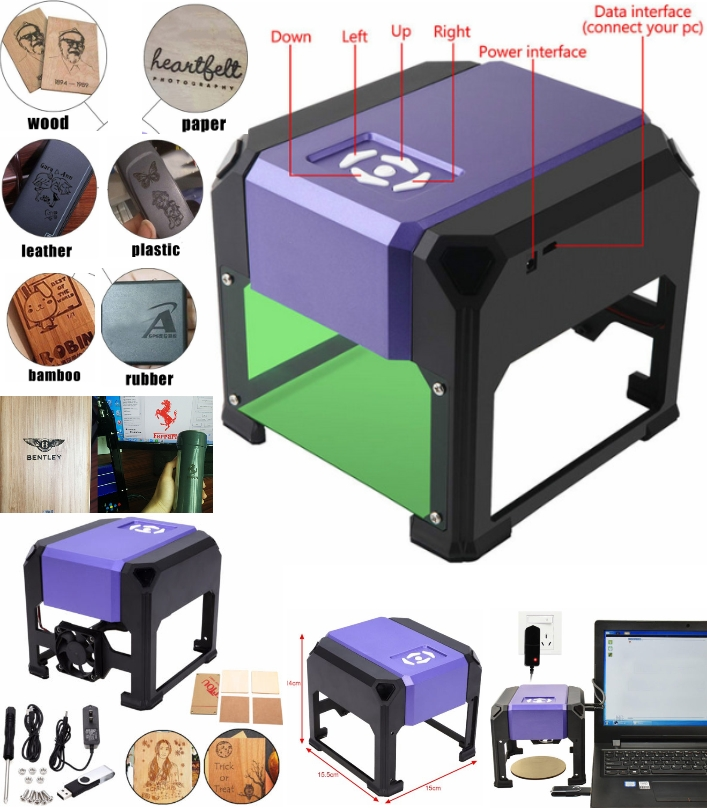 K3 USB laser engraving machine 1500MW High power