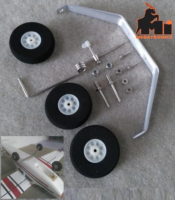 Aluminum Landing Gear Wheel Kit RC Airplane Cessna 182 Parts Replacement