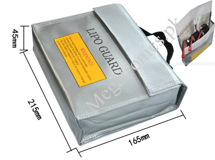 LiPo Li-Po Battery Fireproof Safety Guard Safe Bag