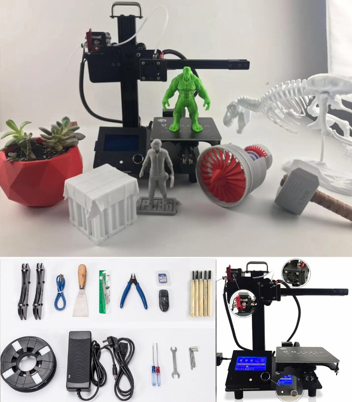 Mini LK zero open 3D printer I3 Self-assemble