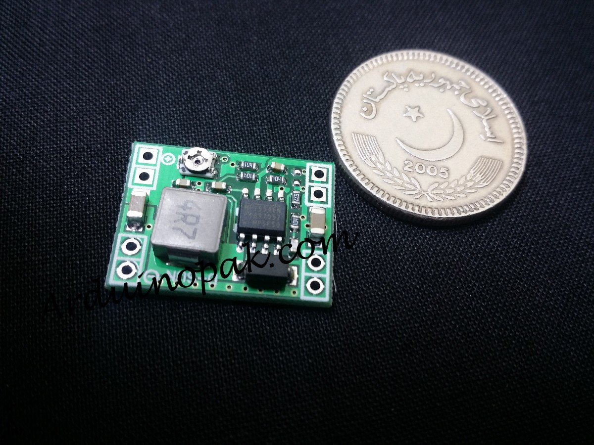 mini Adjustable stepdown DC-DC 1A LM2596 ultra sm