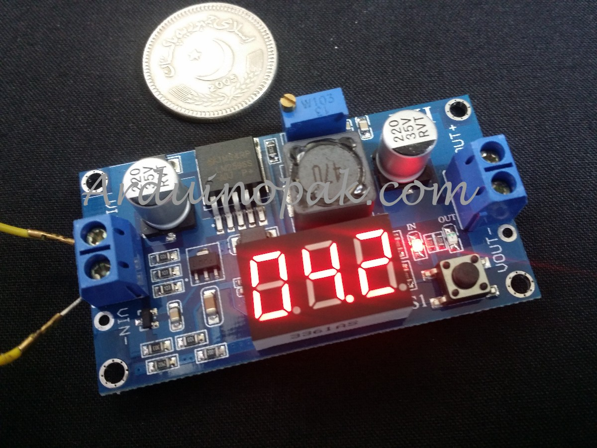 DC to DC LM2596 Step Down Module with Display 4-40