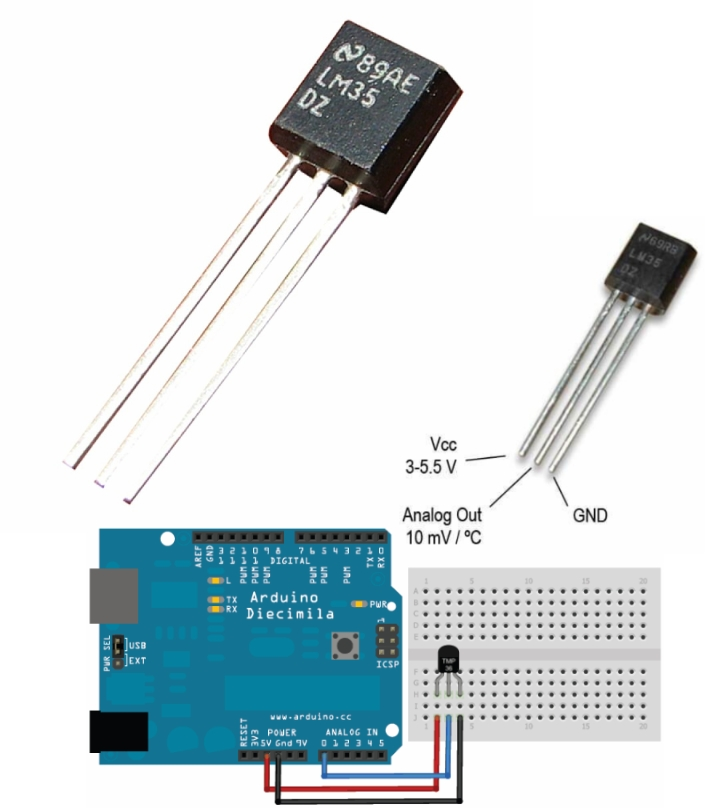 LM35 Precision Centigrade Temperature Sensor TO-92
