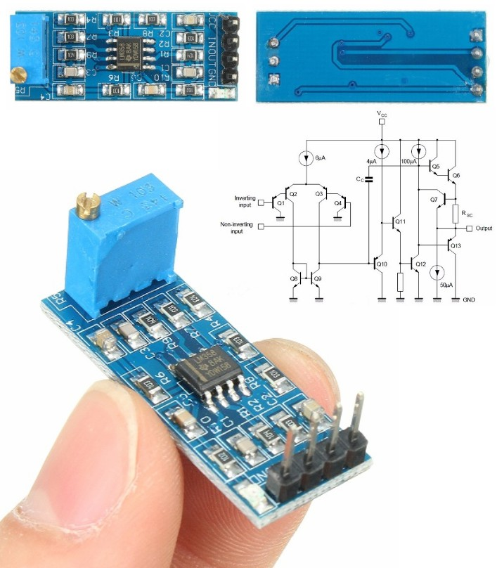 LM358 5V-12V Signal amplification amplifier module