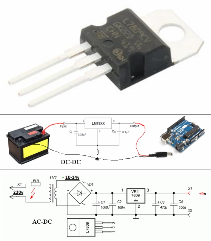 LM7809CV DC Voltage Regulator 9V fix output