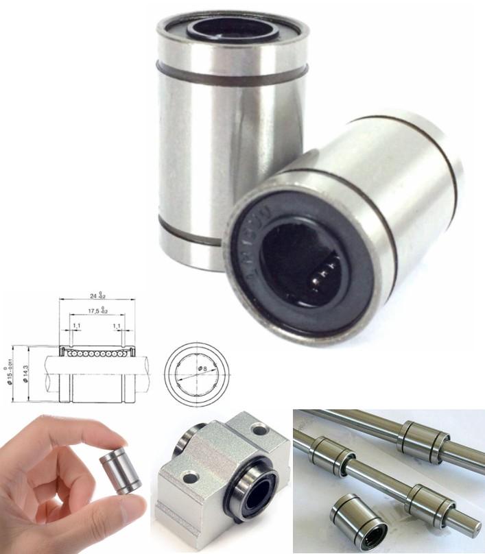 Linear ball Bearing LM8UU 8x15x24 3D printers CNC