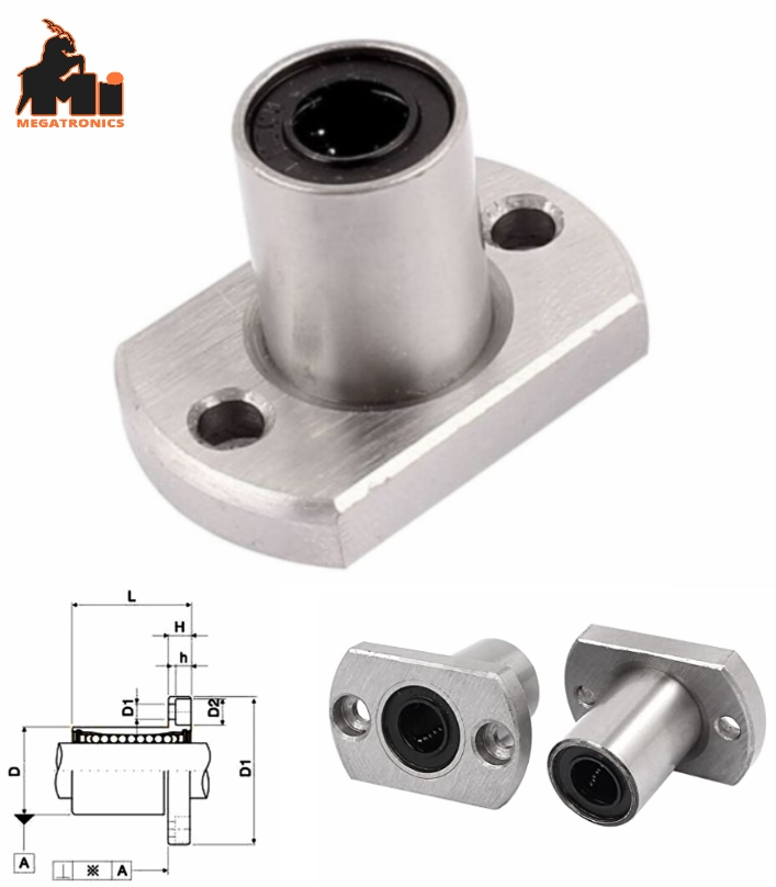 LMH8UU 8mm Flange Mounted Linear Bearing CNC 3D pr