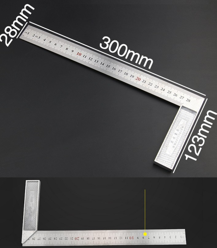 Aluminum L Shaped Angle Ruler Measuring Tool