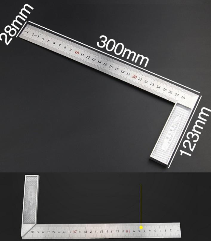 Aluminum L Shaped Angle Ruler Measuring Tool