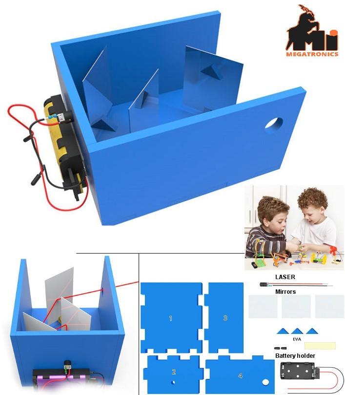 STEM Light reflection school science experiment DIY hand-invented equipment set