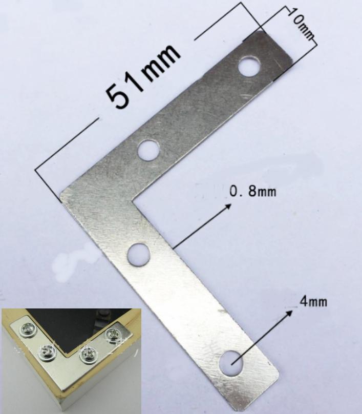 metal L type bracket corner mount