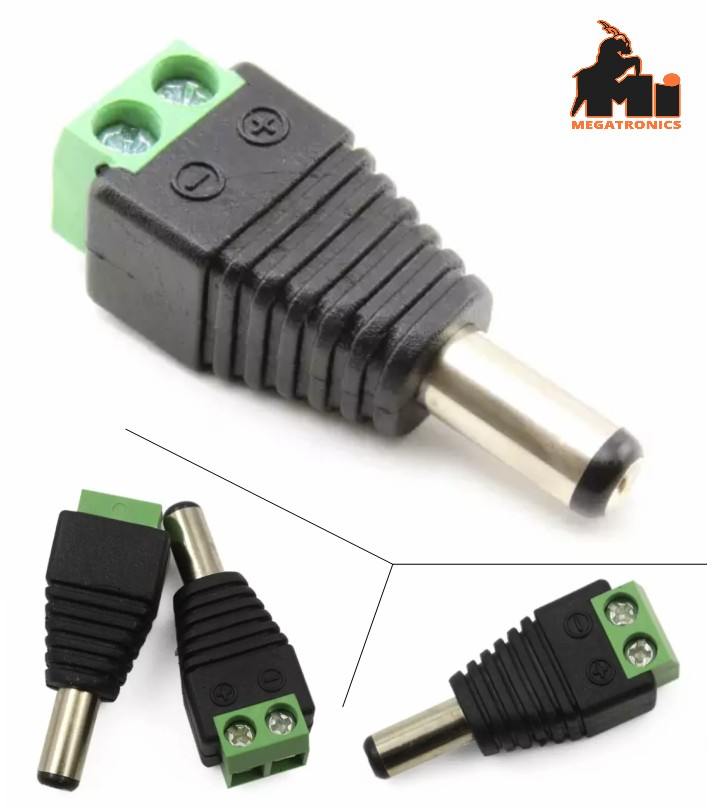 DC Power connector Male jack 5.5x2.1mm socket