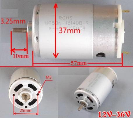 permanent magnet DC motor 12V 24V 3600RPM