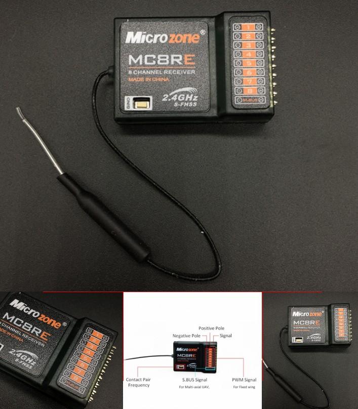 Microzone MC8RE 2.4G 8CH 9CH Receiver for RC Drone