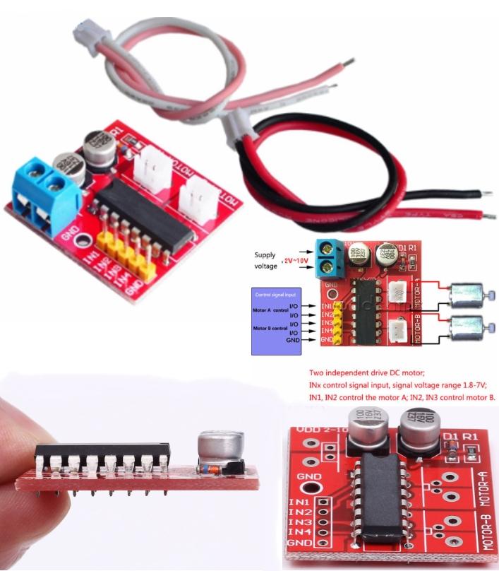 2.5A Dual Channel DC Motor Driver PWM Mini Module