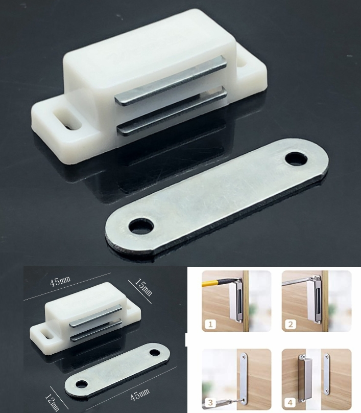 Magnetic Door Stopper Cabinet Catch Holder suction