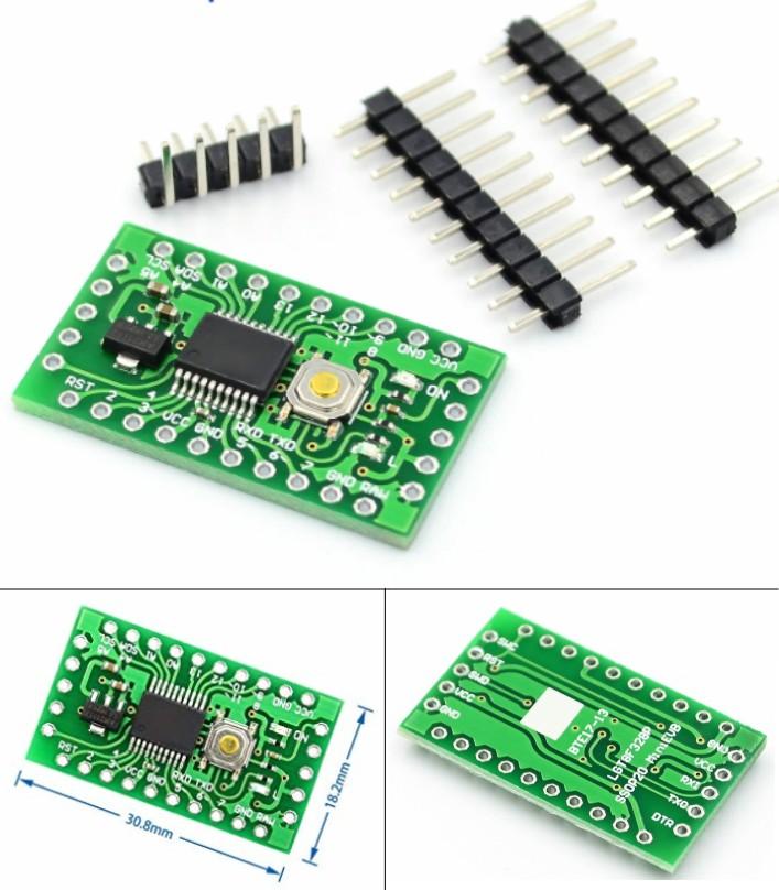 LGT8F328P-SSOP20 MiniEVB Arduino Pro Mini Replacem