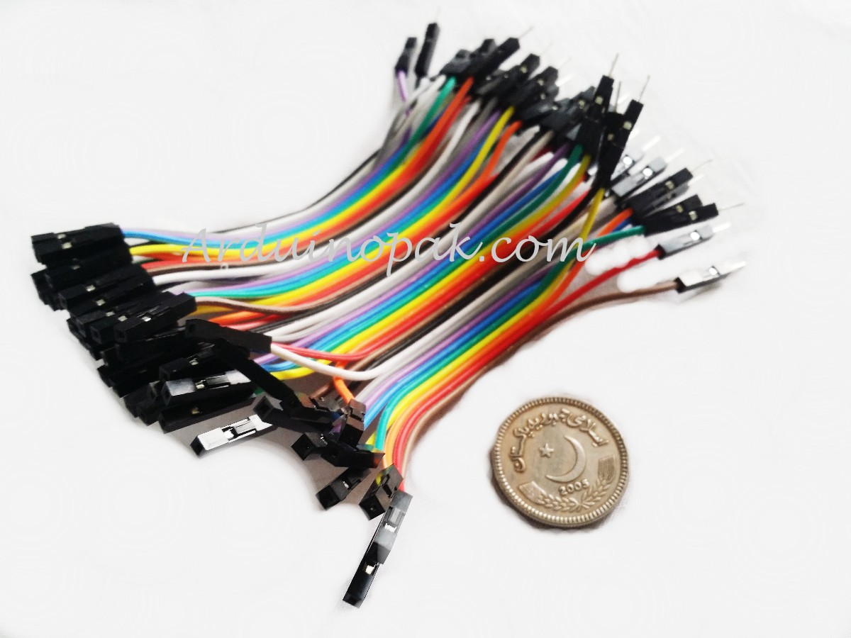 20pcs 20cm 2 54mm 1p Pin Female To Male Color Breadboard Cable Dupon Jumper Wire Mm Ff Mf Dupont Wires 10cm