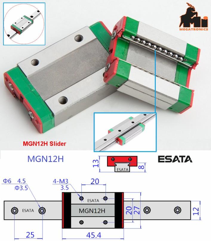MGN12H Linear Rail Slider 12mm CNC 3D Accuracy Car