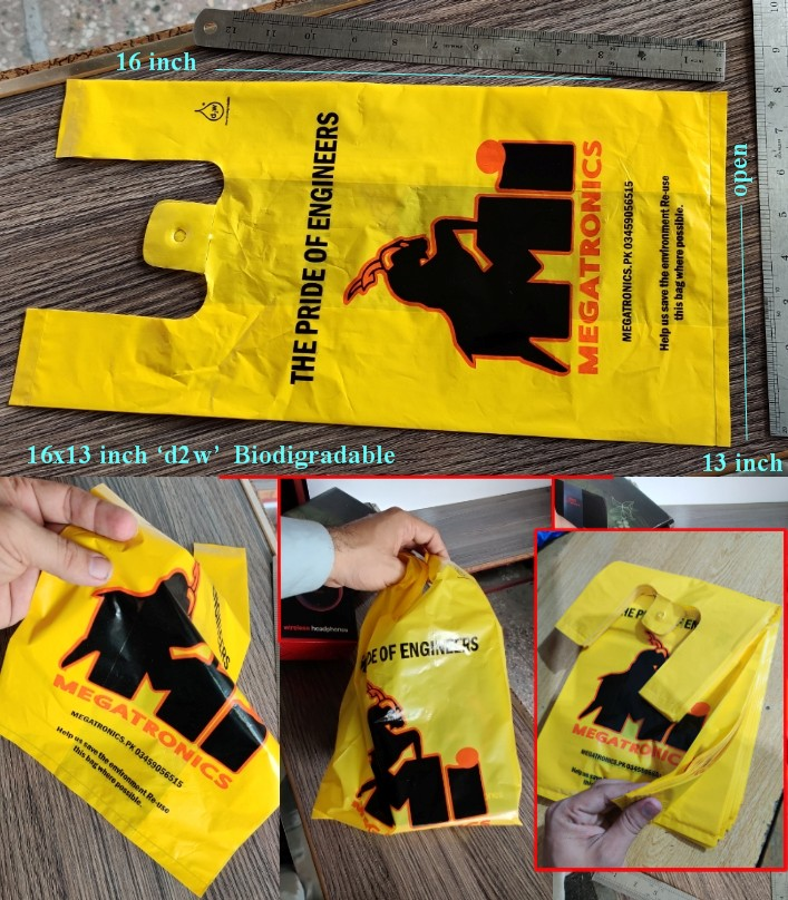 Pack Of 1kg d2w Biodegradable Plastic Shopping Bag