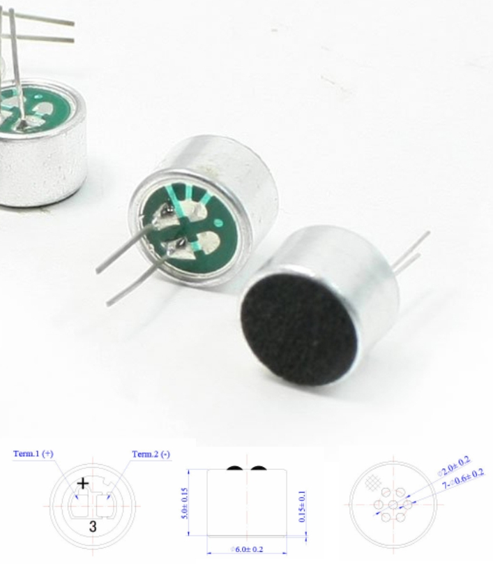 6x5mm 2 Pin MIC Microphone Capsule Electret Conden