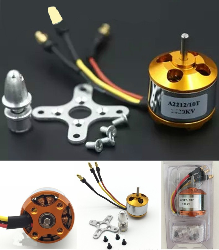 A2212 2450KV Outrunner Bruhless motor + Parts