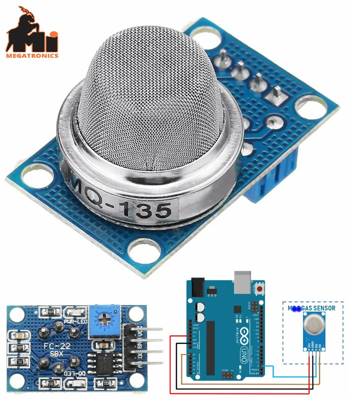 MQ-135 Sensor Air Quality Sensor Hazardous Gas Ammonia Sulfide Benzene Vapor
