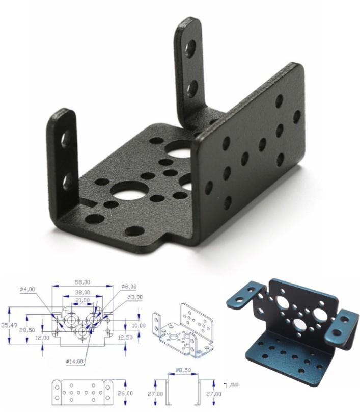 Multifunction Servo Bracket mount PTZ DIY Robot